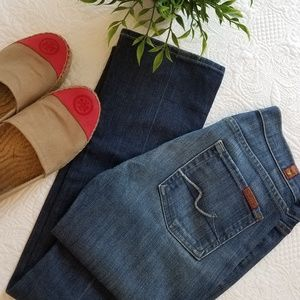7 for all mankind skinny straight leg Jeans